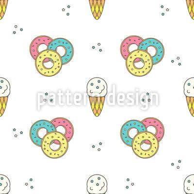 Donuts und Eis Rapportiertes Design