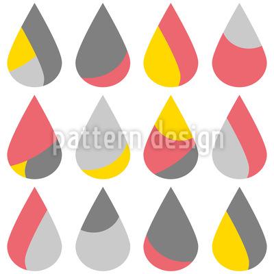 Estou cantando na chuva Design de padrão vetorial sem costura
