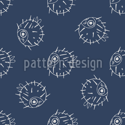 Pufferfish Vector Pattern