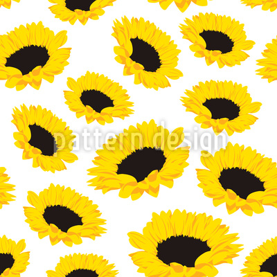 Sunflower Repeating Pattern