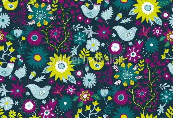 Vögel im Wald Rapportiertes Design