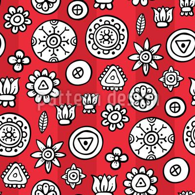 Blüten Verzierungen Muster Design
