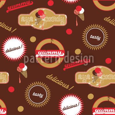 Yummy Brown Seamless Vector Pattern Design