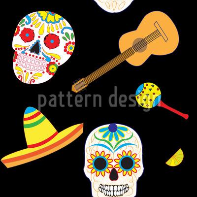 Typisch Mexiko Nahtloses Muster
