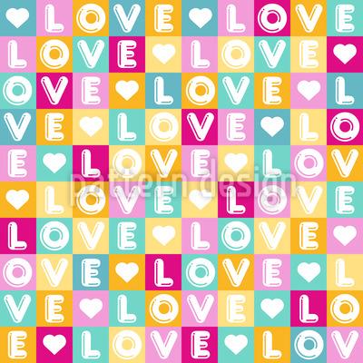 Buchstaben Der Liebe Nahtloses Vektormuster