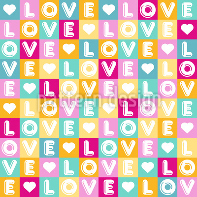 Letters Of Love Seamless Vector Pattern Design
