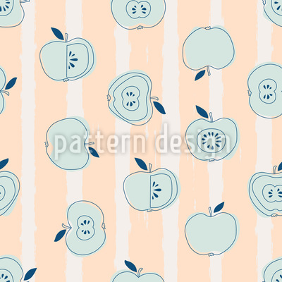 Stripes And Apples Seamless Pattern