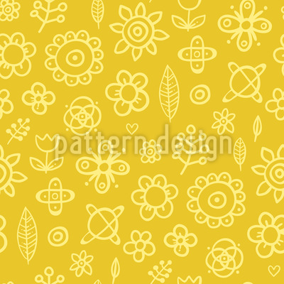 Floral Drawings Repeat Pattern