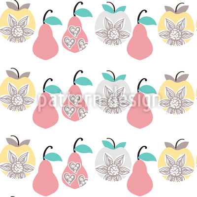 Apples and Pears Pattern Design