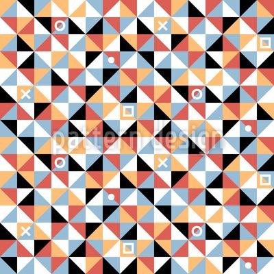 Dreiecke und Quadrate Nahtloses Muster