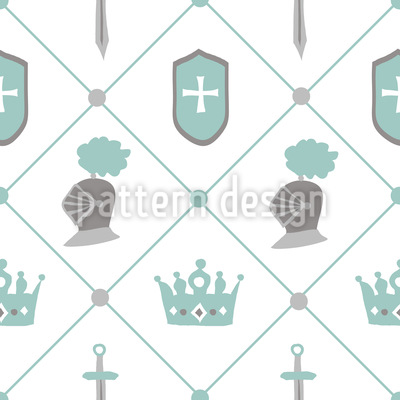 Crown and Shield Vector Ornament