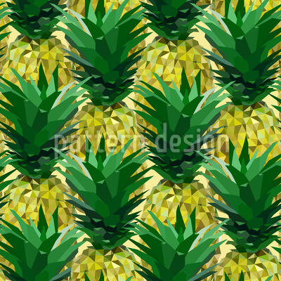 Geometrische Ananas Nahtloses Vektormuster