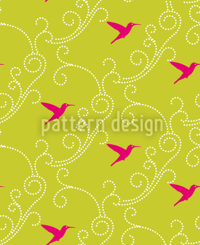 Hummingbird Seamless Vector Pattern Design