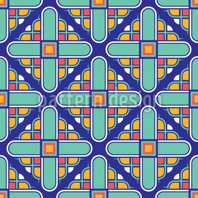 Art Deco Tower Seamless Vector Pattern Design