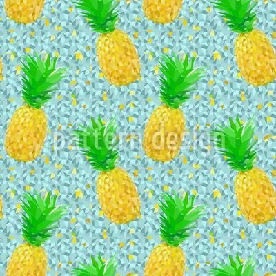 氷上のパイナップル シームレスなベクトルパターン設計