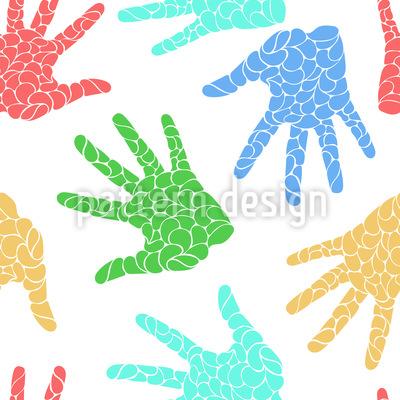Handabdrücke Vektor Muster