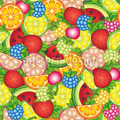Healthy Summer Treats Repeat Pattern