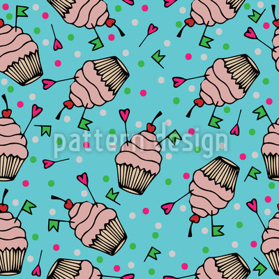 Cupcake Liebe Muster Design
