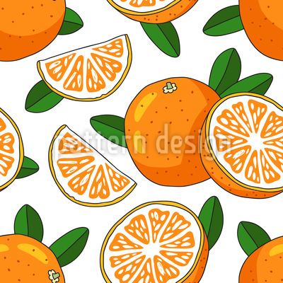 Sonnige Orange Vektor Ornament