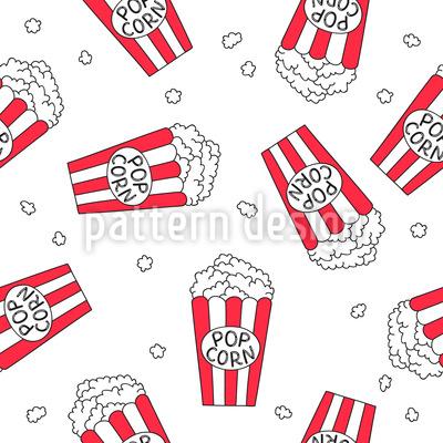 Popcorn Film Nacht Nahtloses Muster