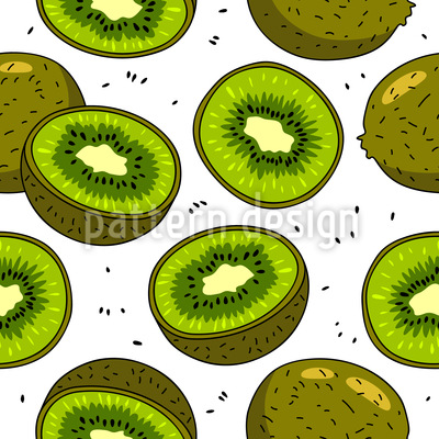 Kiwi Seamless Vector Pattern Design
