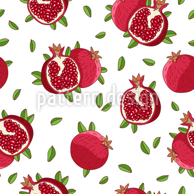 Pomegranates Repeating Pattern