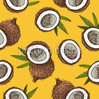 Kokosnuss Nahtloses Vektormuster