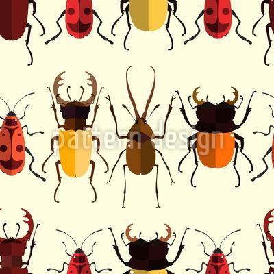Reihen von Käfern Nahtloses Vektormuster