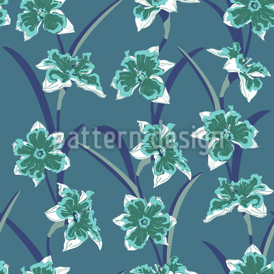 Daffodil At Night Pattern Design
