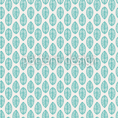 Leaf Simplicity Seamless Vector Pattern