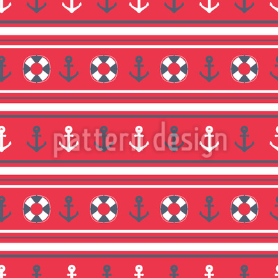Nautical Stripes Repeating Pattern