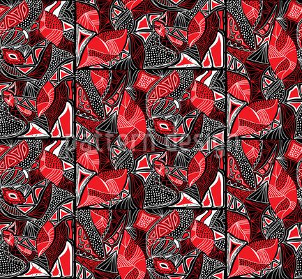 Tribal Fliesen Vektor Muster