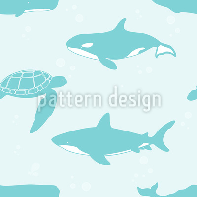 Sharks Whales Turtles Vector Design