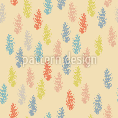 Drawn Feathers Pattern Design