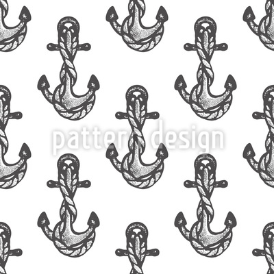 Anchor Tattoos Seamless Vector Pattern Design