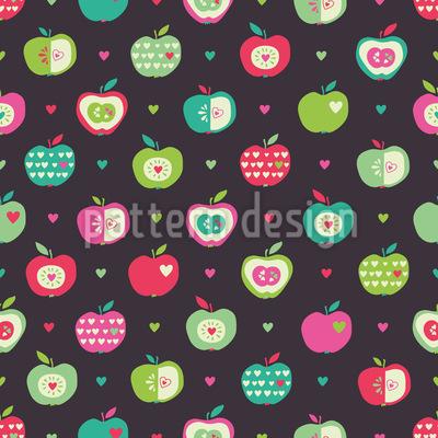 Gesunde Äpfel Rapportmuster