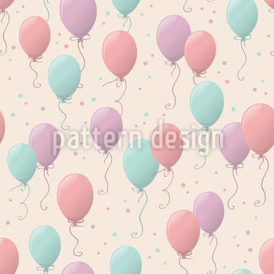 Geburtstag Ballons Muster Design