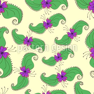 Blüten Und Blätter Musterdesign