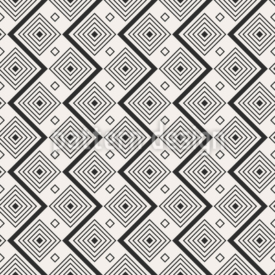 Zigzag Square Seamless Pattern
