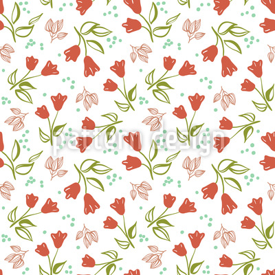Scattered Tulips Pattern Design