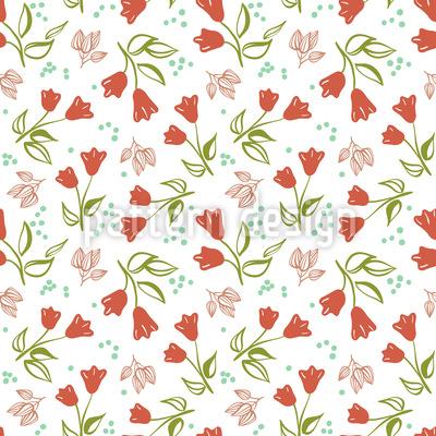 Verstreute Tulpen Muster Design