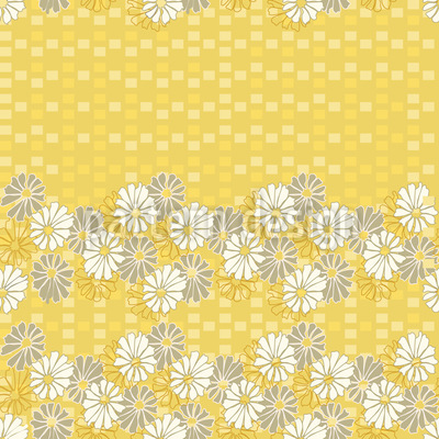 Summer Daisies Seamless Pattern