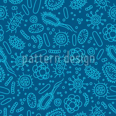 Bakterielle Welt Nahtloses Vektor Muster
