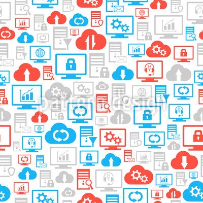 Online Sicherheit Vektor Muster