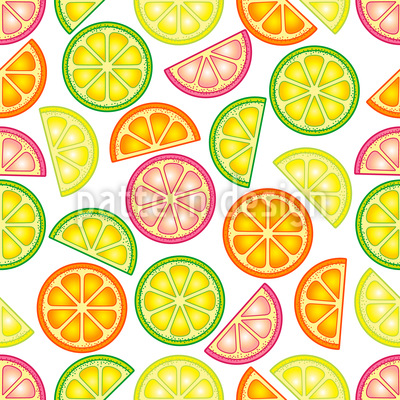 Yummy Citrus Vector Pattern