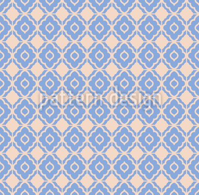 checkered Bloosms Mosaic Pattern Design