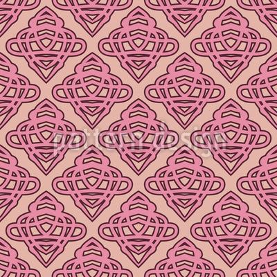 Curlicue Elements Vector Pattern