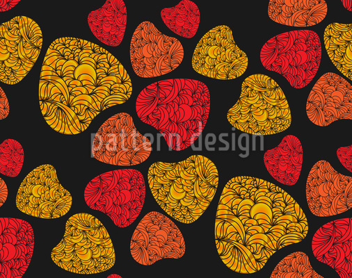 Girly Hearts Repeat Pattern