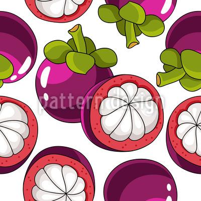 Mangosteen Fruit Vector Ornament