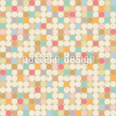 Retro Dot Game Pattern Design